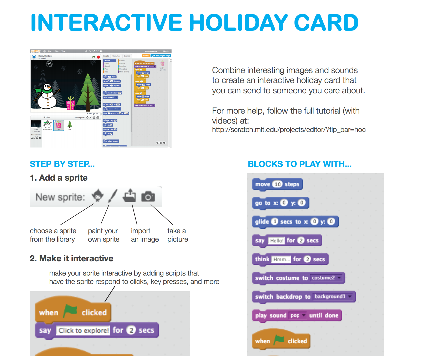 Scratch: Interactive Holiday Card
